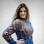 Одежда ручной работы. Ярмарка Мастеров - ручная работа Жакет валяный Оранжевое дерево. Handmade.