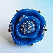Винтаж handmade. Livemaster - original item Flower ring, large ring. Handmade.