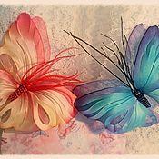 Украшения ручной работы. Ярмарка Мастеров - ручная работа Бабочка из шелка. Handmade.