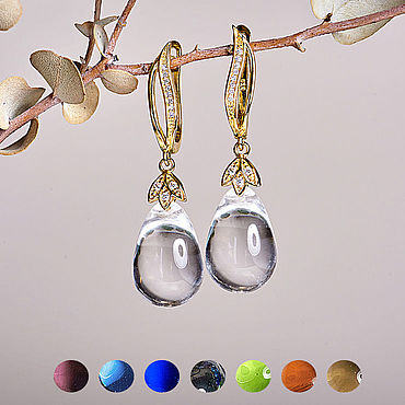 Decorations handmade. Livemaster - original item Elegant earrings drops with an English castle in gold 14KT. Handmade.