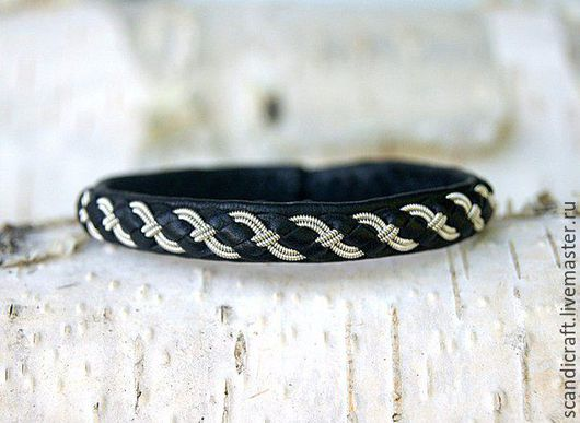 Браслеты ручной работы. Ярмарка Мастеров - ручная работа. Купить Шведский кожаный браслет для мужчин и женщин. Handmade. Кожаный браслет