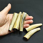 Материалы для творчества handmade. Livemaster - original item Beads Deer Horn horn medium size 70h11-18mm. Handmade.