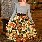 """Юбки ручной работы. Ярмарка Мастеров - ручная работа Юбка в бохо-стиле """"Осенние цветы"""". Handmade."""