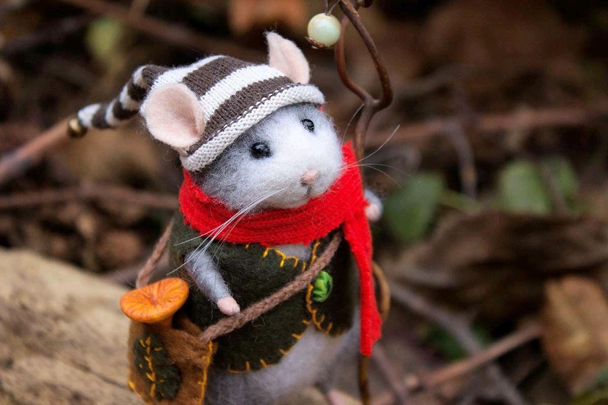 Мышь из сказочного леса, Войлочная игрушка, Краснодар,  Фото №1