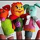 """Развивающие игрушки ручной работы. Ярмарка Мастеров - ручная работа. Купить Пальчиковый театр""""Колобок"""".. Handmade. Желтый, Сказки, развивашка, холлофайбер"""