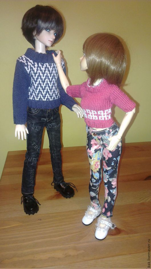 Одежда для кукол ручной работы. Ярмарка Мастеров - ручная работа. Купить Вязанный свитер для BJD формат 1/4 MSD. Handmade.