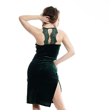 Одежда ручной работы. Ярмарка Мастеров - ручная работа Танго Платье с кружевной спинкой. Handmade.