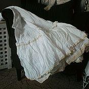 Одежда ручной работы. Ярмарка Мастеров - ручная работа Нижняя бохо юбка  с хлопковым кружевом. Handmade.
