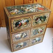 Для дома и интерьера handmade. Livemaster - original item Mini chest of drawers pastoral. Handmade.