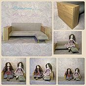 Мебель для кукол ручной работы. Ярмарка Мастеров - ручная работа Диван для кукол. Handmade.