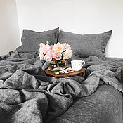 Для дома и интерьера handmade. Livemaster - original item Set of bed linen. 100% linen. Softened.. Handmade.