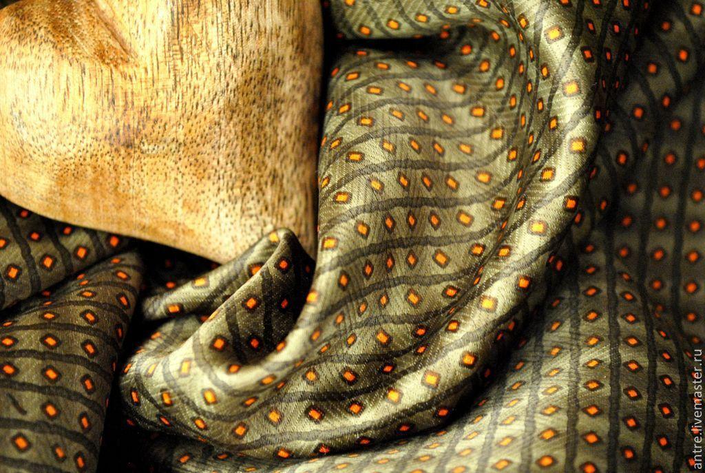 Ткань для брошей, галстуков и бабочек (Оливка) Новинка, Ткань, Москва, Фото №1
