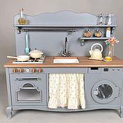 Игрушки ручной работы. Ярмарка Мастеров - ручная работа Игрушки: Детская игровая кухня деревянная с электрической с/м. Handmade.