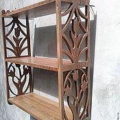 Для дома и интерьера ручной работы. Ярмарка Мастеров - ручная работа полка   настольная резная трёх ярусная. Handmade.