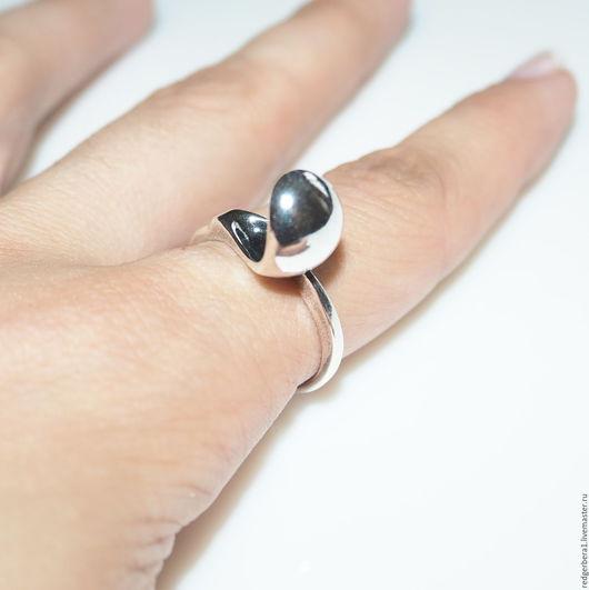 """Для украшений ручной работы. Ярмарка Мастеров - ручная работа. Купить Основа для кольца """"Фаина""""(10 мм) - серебрение 925 пробы. Handmade."""