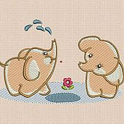 Материалы для творчества handmade. Livemaster - original item Machine Embroidery Design by Elephant bt010. Handmade.