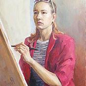 Картины и панно handmade. Livemaster - original item Portrait with oil paints. Handmade.