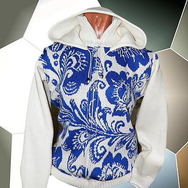 Одежда ручной работы. Ярмарка Мастеров - ручная работа Тату-свитер - ГЖЕЛЬ. Handmade.