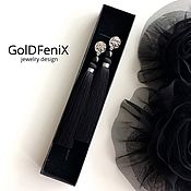 Украшения handmade. Livemaster - original item Earrings tassels black Kleopatra in silver silk pearls Mallorca. Handmade.