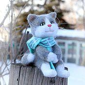 Куклы и игрушки handmade. Livemaster - original item Cat Senya in anticipation of spring. Felted toy made of wool. Handmade.