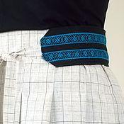 Одежда ручной работы. Ярмарка Мастеров - ручная работа Юбка в этно стиле, юбка с синей каймой. Handmade.