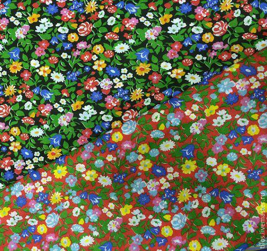 Шитье ручной работы. Ярмарка Мастеров - ручная работа. Купить ткань ситец мелкие цветы 2 цвета. Handmade. Разноцветный
