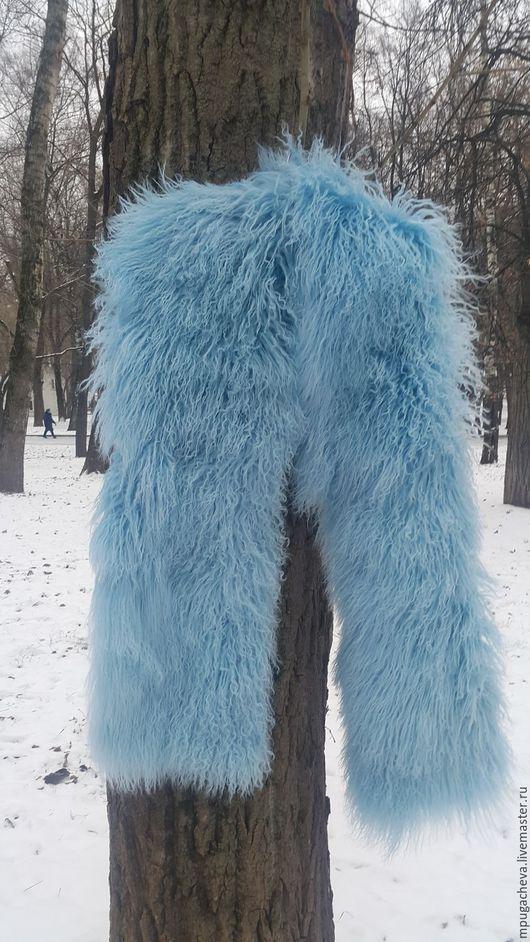 Верхняя одежда ручной работы. Ярмарка Мастеров - ручная работа. Купить Меховой палантин из ламы. Длинный меховой шарф. Handmade.