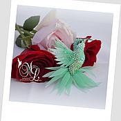Украшения handmade. Livemaster - original item Brooch .Brooch Hummingbird.