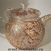 Посуда ручной работы. Ярмарка Мастеров - ручная работа Чайник Золотые ветви. Handmade.
