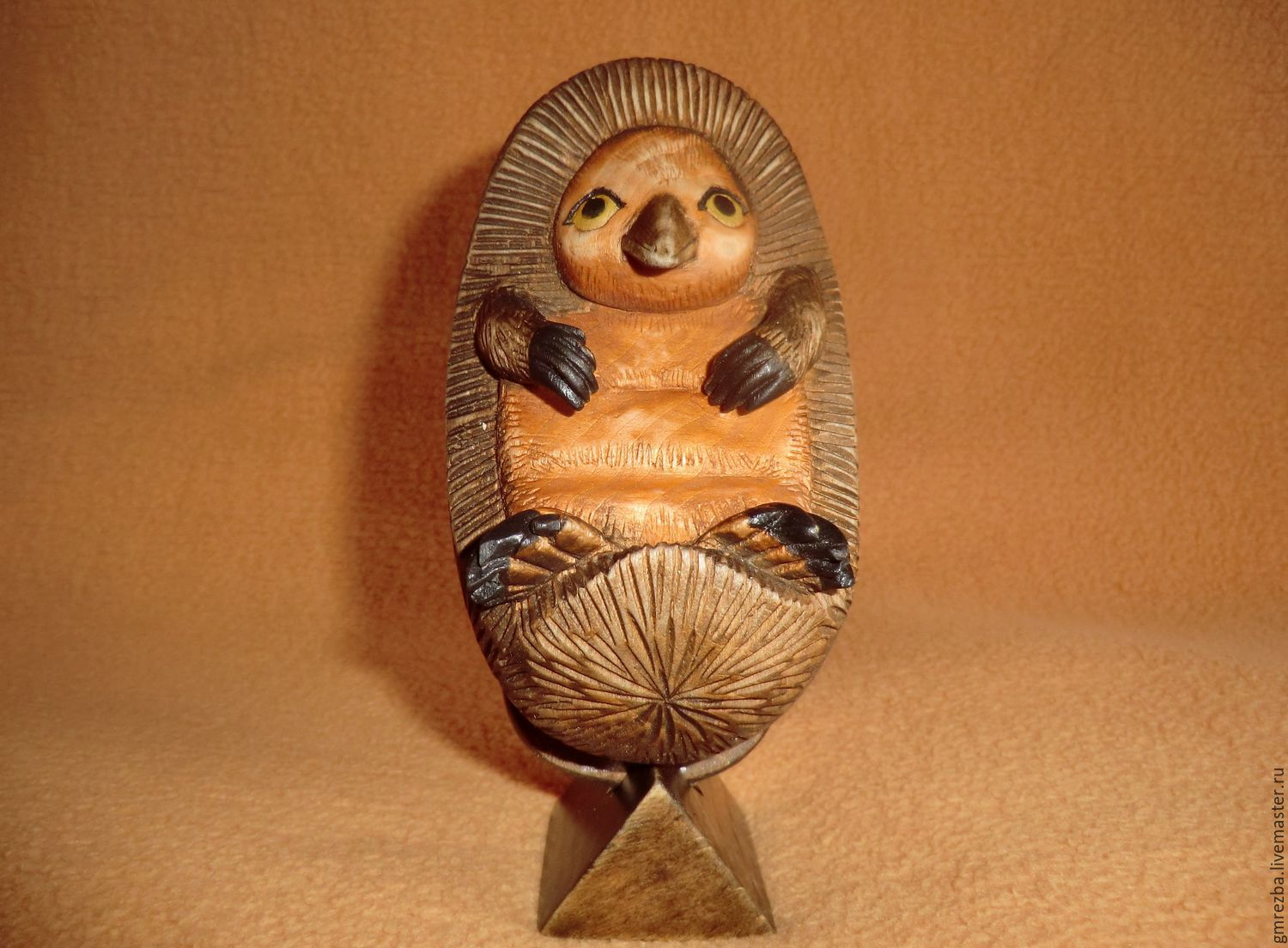 australian echidna wood carving, Figurines, Moscow,  Фото №1