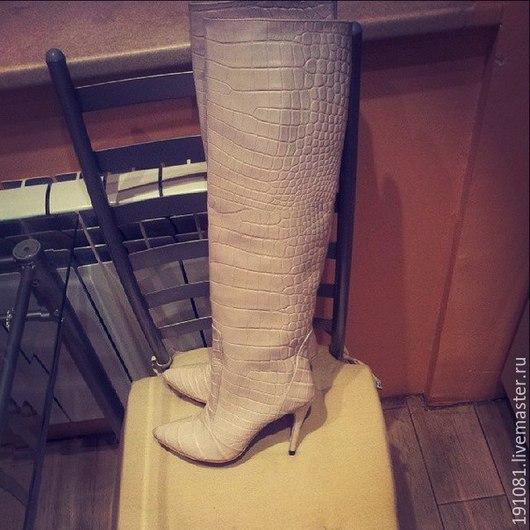 Обувь ручной работы. Ярмарка Мастеров - ручная работа. Купить сапоги. Handmade. Разноцветный, натуральная замша, индивидуальный дизайн