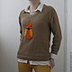 Кофты и свитера ручной работы. Пуловер с совой. Art sweeterra. Ярмарка Мастеров. Пуловер женский, свитер женский, авторская работа