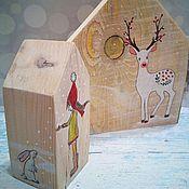 Для дома и интерьера ручной работы. Ярмарка Мастеров - ручная работа Домик новогодний. Handmade.