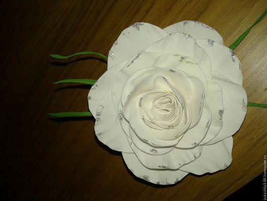 Заколки ручной работы. Ярмарка Мастеров - ручная работа. Купить Роза заколка, брошь. Handmade. Брошь цветок, фоамиран