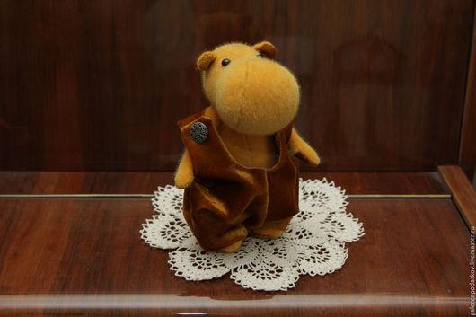Мишки Тедди ручной работы. Ярмарка Мастеров - ручная работа. Купить Бегемотик Ириска. Handmade. Оранжевый, плюш, мохер