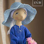 Куклы и игрушки ручной работы. Ярмарка Мастеров - ручная работа Мадам в голубом. Handmade.