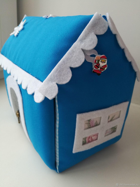 Сумка-домик для кукол из ткани, раскладной, Кукольные домики, Кольчугино,  Фото №1