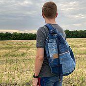 Сумки и аксессуары handmade. Livemaster - original item BikerIII denim backpack. Handmade.