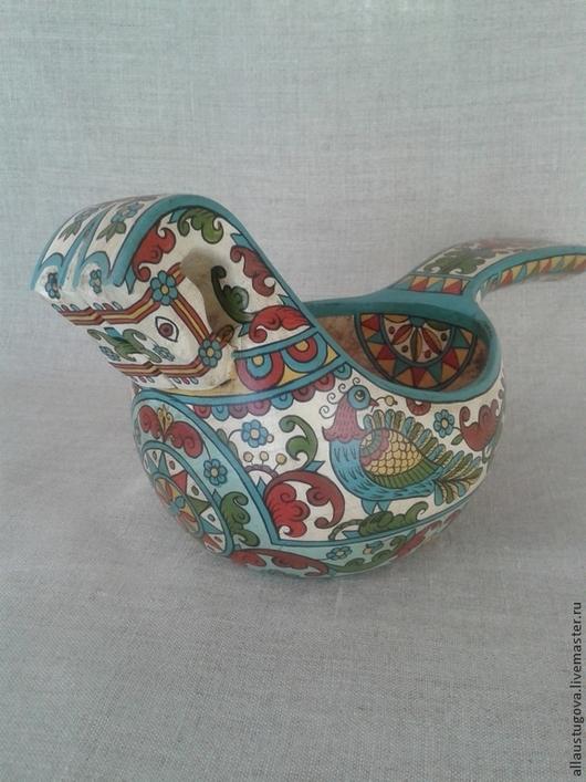Посуда ручной работы. Ярмарка Мастеров - ручная работа. Купить Ковш коник. Handmade. Ковш, русский стиль, конфетница
