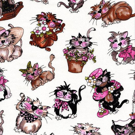 Ткань хлопок Серия `Fancy Cats` (Котики)