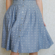 Одежда ручной работы. Ярмарка Мастеров - ручная работа Платье с якорями. Handmade.