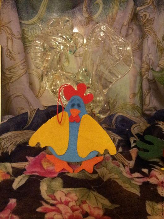 Новогодняя открытка из фетра `Петух Афоня`. Ярмарка Мастеров - ручная работа. Купить открытка из фетра `Петух Афоня`. Handmade.