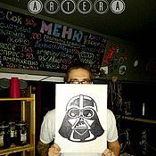 """Для дома и интерьера ручной работы. Ярмарка Мастеров - ручная работа Интерьерная 3D вывеска """"Darth Vader"""". Handmade."""