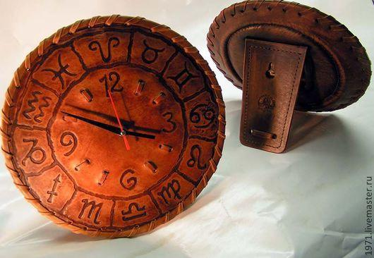Часы для дома ручной работы. Ярмарка Мастеров - ручная работа. Купить знаки .самолет. Handmade. Кожа, дизайн интерьера, Дуб