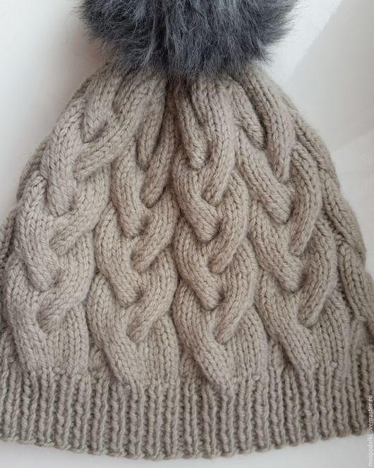 Шапки ручной работы. Ярмарка Мастеров - ручная работа. Купить Осенний комплект шапка +бактус спицами. Handmade. Зимняя шапка