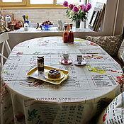 Для дома и интерьера ручной работы. Ярмарка Мастеров - ручная работа Льняная скатерть Винтажное кафе. Handmade.