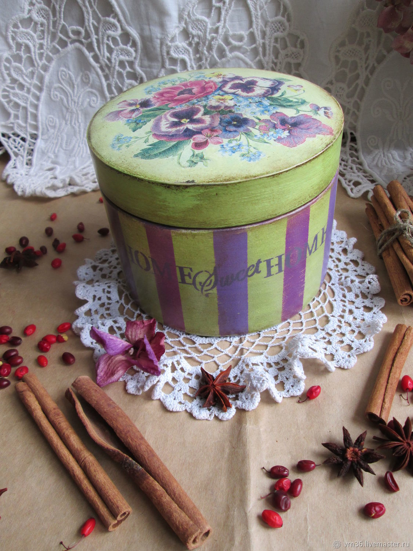 Box-bonbonniere Pansies, Box, Voronezh,  Фото №1