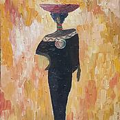Картины и панно ручной работы. Ярмарка Мастеров - ручная работа Африканская незнакомка. Handmade.