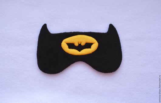 Белье ручной работы. Ярмарка Мастеров - ручная работа. Купить Маска для сна Batman. Handmade. Черный, супергерой, batman