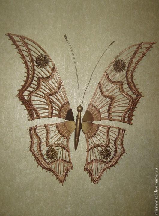 """Животные ручной работы. Ярмарка Мастеров - ручная работа. Купить Декоративное панно """"Бабочка"""". Handmade. Панно, плетение, ивовая лоза"""